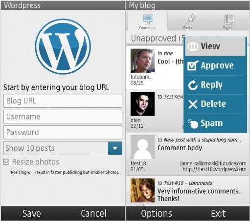 Wordpress per Symbian^3